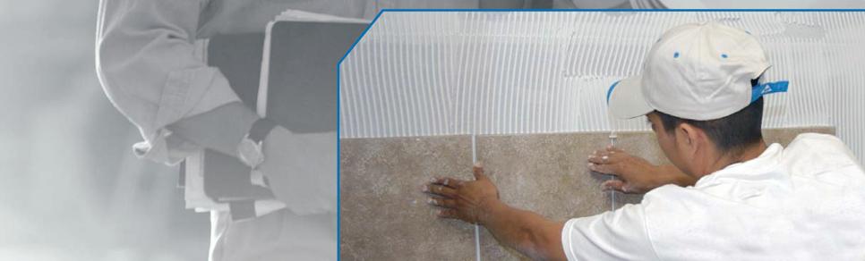 Denshield Tile Backer being installed